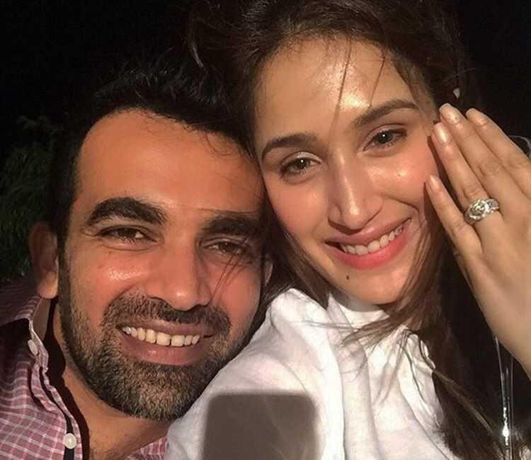 Zaheer Khan and Sagarika Ghatge after Engagement