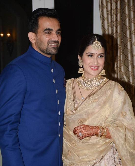 Zaheer Khan Wedding Photo with Wife Sagarika Ghatge